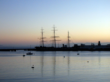 Balclutha at dawn.
