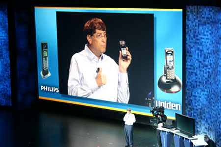 Bill Gates on-stage at CES 2006