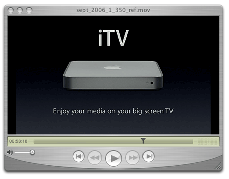 screenshot of new Apple iTV unit