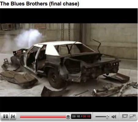 Screenshot of the Blues Brothers on YouTube