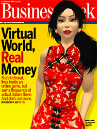 Second Life Business Week cover